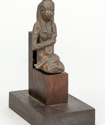 Bronze statuette of Isis with Horus (Harpocrates), Egypt, late period 664 323 BC…