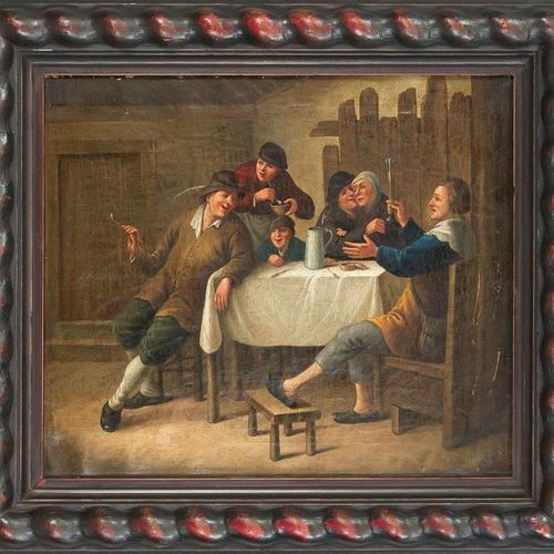 Dutch genre painter of the 18th century, sociable inn scene in the tradition of …