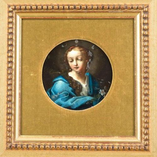Italian school of the 17th/18th century, saint with lily (Annunciation Madonna),…