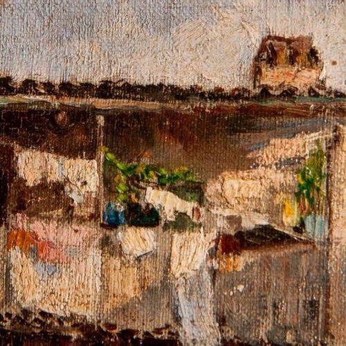 Antonio Reyna Manescau (1859 1937) (Att.) Courtyard of Via Marguttaearly 20th ce…