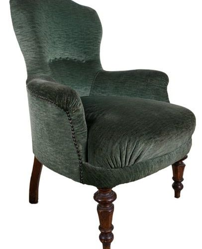 Armchair and chairTuscan manufacture, early 20th century in carved walnut, padde…