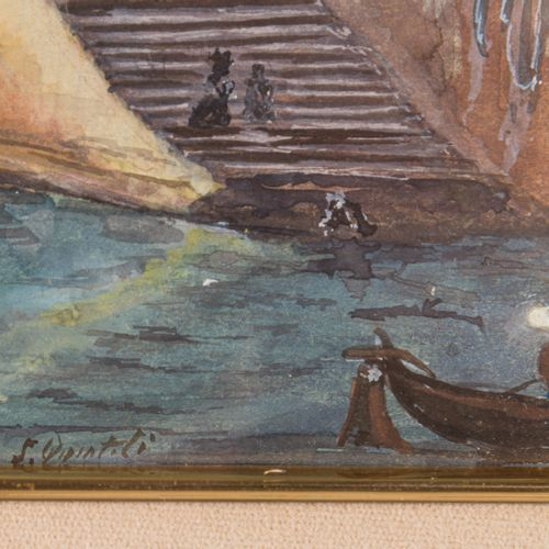 Glimpse of Venice watercolor on paper, signed, framed, 30 x 35 cm