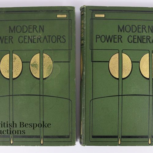 Two 19th century volumes entitled 'Modern Power Generators', in Art Nouveau bind…