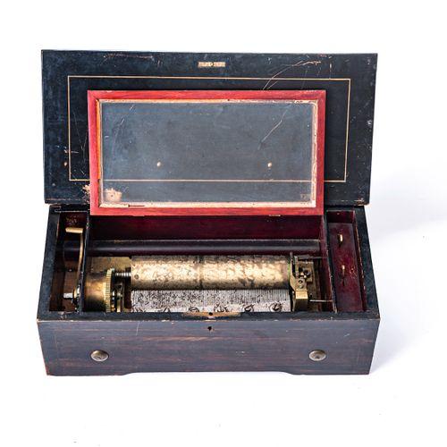 Boite à musique à rouleau du XIXe siècle  Le coffret en bois de placage et bois …