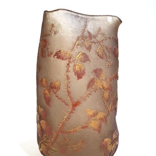 DAUM NANCY  « Branches d'épineux en automne » « Arbres aux corbeaux »  Rare et i…