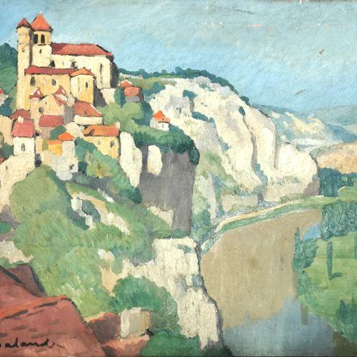 Gaston BALANDE (1880 1971)  Paysage de Dordogne  Huile sur toile signée  46 x 55…