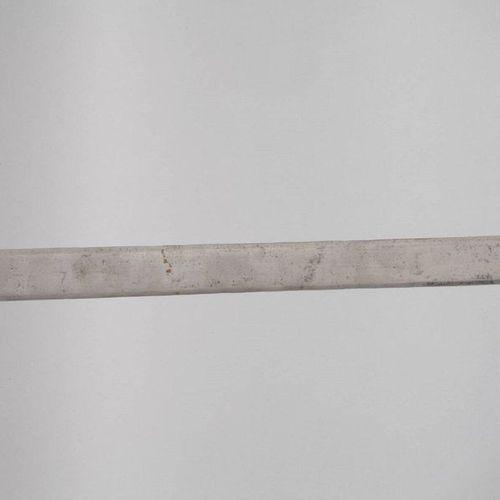 Tulwar  India, 19th/20th century, fine, floral silver inlaid iron hilt, double e…