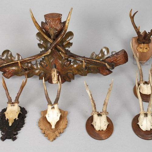 Package Hunting  1st half of the 20th century, hunting wardrobe, oak leaf carved…