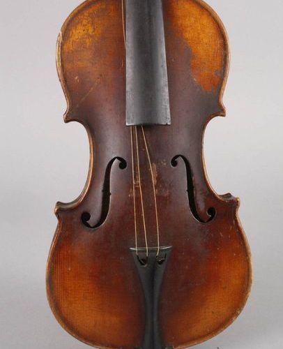 Violin in case  c. 1920, with model label Antonius Stradiuarius Cremonensis, div…