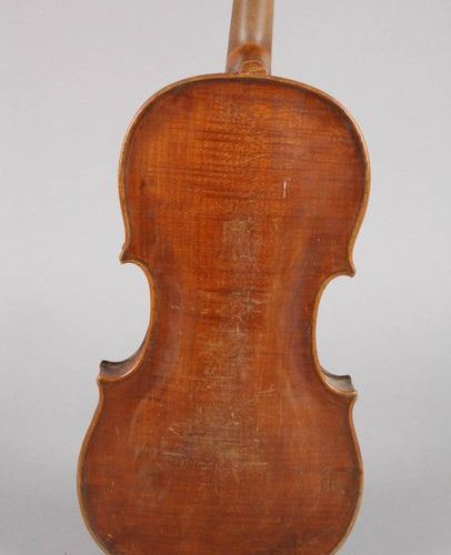 Violin  1920's, without label, undivided, evenly flamed back in hazelnut brown l…