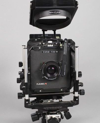 Large format camera Toyo View  1980's, marked Toyo View and Plaubel, serial numb…