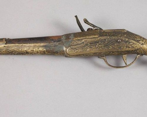 Four firearm replicas  probably decoration pieces of the 20th century, two long …