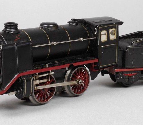 Märklin R920 locomotive with tender  Built 1937, marked and inscribed, sheet met…