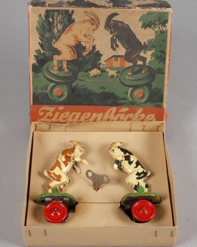 "MS mechanical goat fight  from the series ""fighting toy figures"", company Gebr. …"