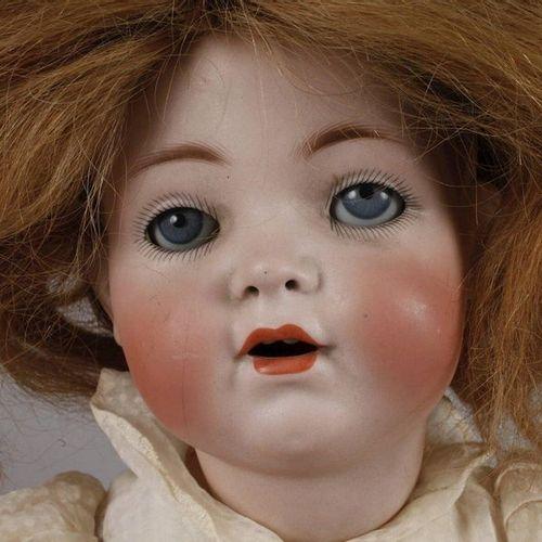 Simon & Halbig porcelain head doll  for Franz Schmidt, character girl around 191…