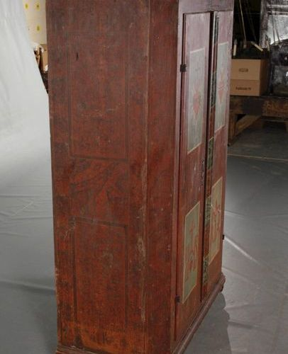 Baroque farmer's cupboard  2nd half of the 18th century, solid coniferous wood, …