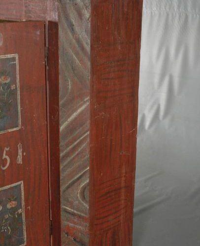 Armoire du fermier 1851  daté sur la porte, en bois de conifère massif, en coule…