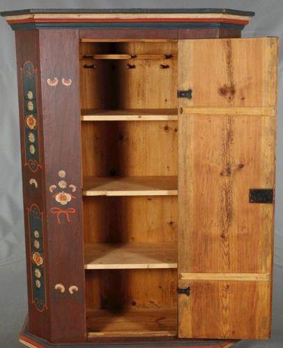Armoire du fermier 1795  petite armoire à une porte, datée sur la porte, bois de…