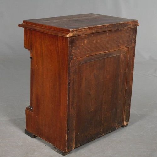 Small half cupboard Empire  Mahogany veneered on coniferous wood, around 1810, t…