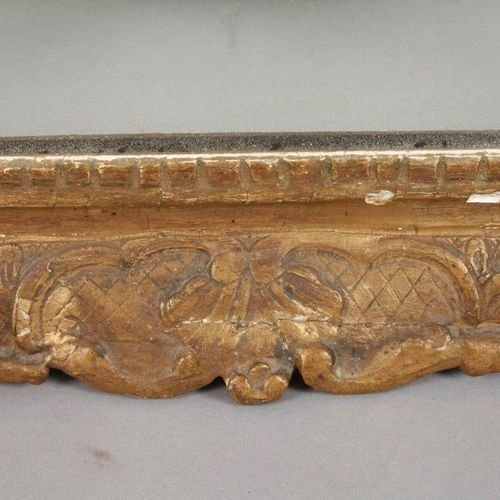 Wall mirror baroque  middle 18th century, wood carved, stuccoed and gold bronzed…