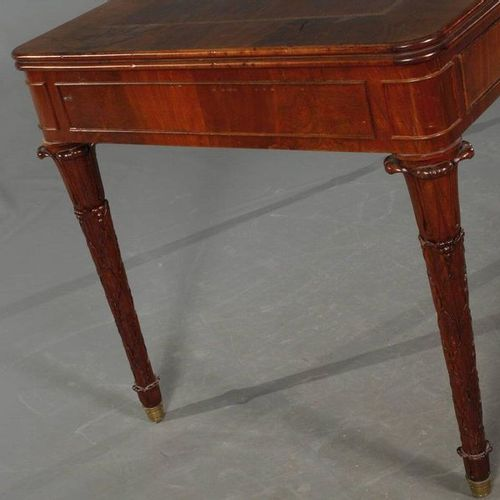 Biedermeier desk  ca. 1830, mahogany massive and veneered, freely adjustable in …
