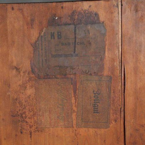 Armoire à piliers de style wilhelminien  Allemand, vers 1880, en noyer plaqué su…