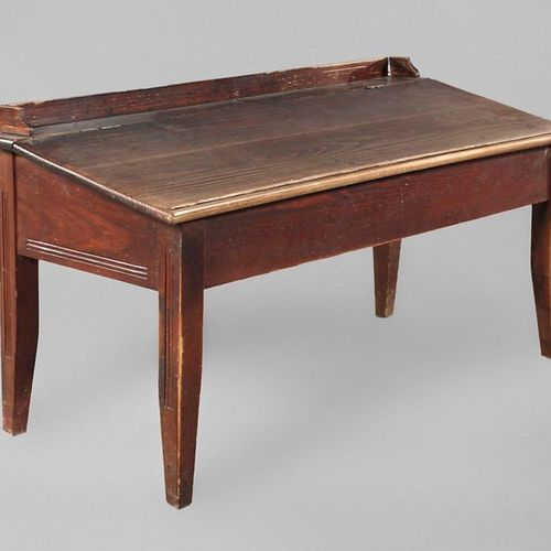 Writing desk attachment  for a chest of drawers, solid softwood, around 1900, su…