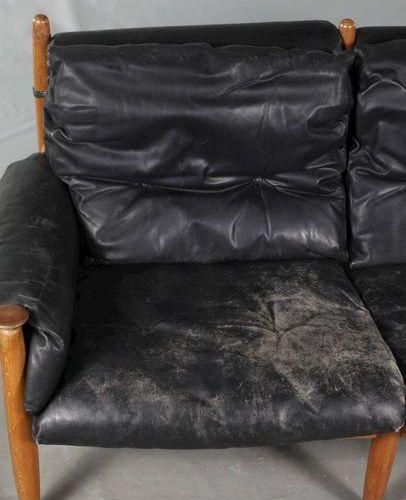 Eric Merthen Canapé en cuir Eric Merthen  conçu dans les années 1960 pour les fa…