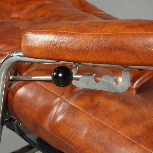 Canapé pivotant en acier tubulaire  probablement années 1970, châssis en tube d'…