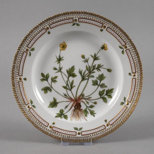 """Royal Copenhagen dinner plate """"Flora Danica""""  Design 1790 by order of the Danish…"""