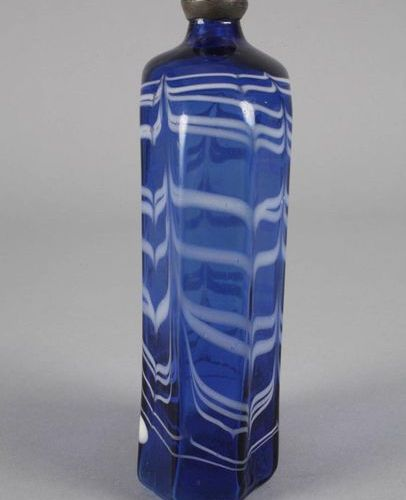Brandy bottle  alpine or Switzerland/France, end of 18th century, cobalt blue gl…
