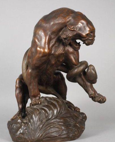 Thomas Francois CARTIER Thomas François Cartier, Lion combattant  Début du XXe s…