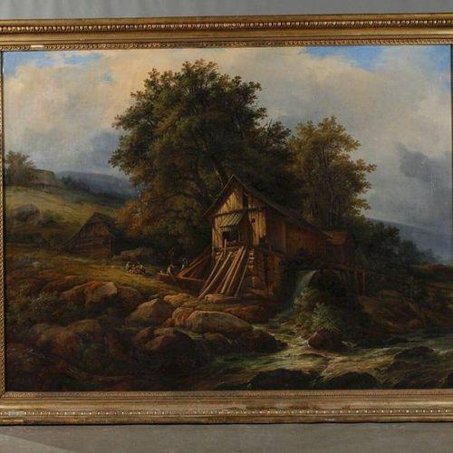 Adolph Kunkler Adolph Kunkler, The Hansel Mill in Loschwitzgrund  idyllic summer…