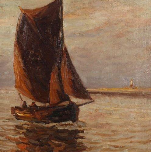 Julius Seyler Prof. Julius Seyler, bateau à voile sur la côte  bateau solitaire …