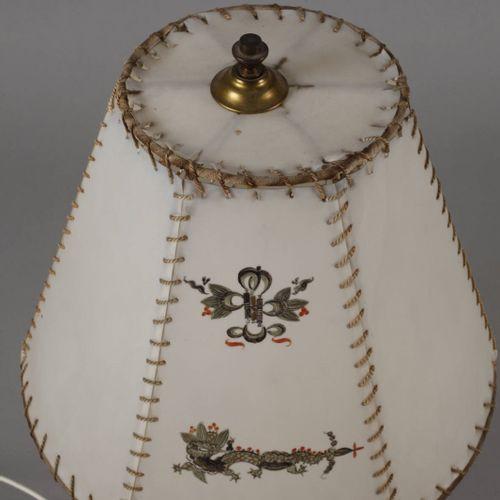 """Meissen table lamp """"Rich dragon, black"""".  Underglazed blue sword mark Pfeifferze…"""