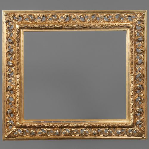 Florentine frame  2nd half of the 19th century, approx. 17 cm wide carved and st…