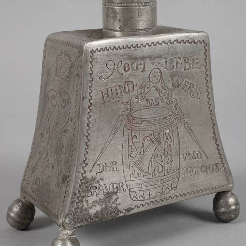 Brandy bottle of the brewers and coopers  probably Thuringia, 18th/19th century,…
