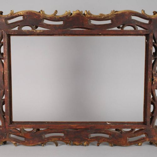 Florentine frame  19th century, magnificent frame made of ca. 11,5 cm wide gilde…
