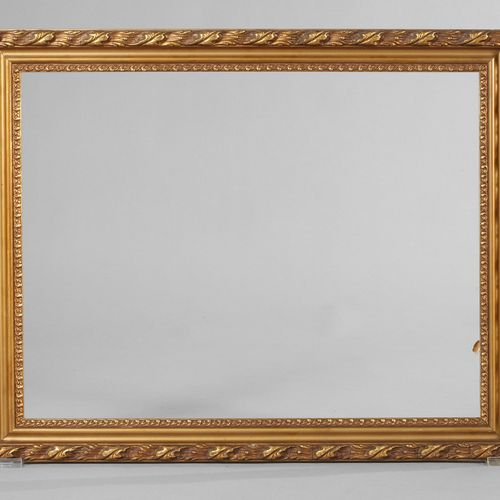 Gold stucco moulding  1st half of the 20th century, frame made of 5 cm wide, out…