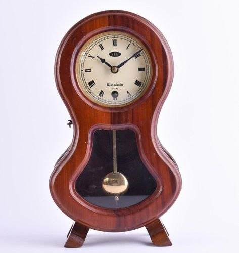 Tischuhr um 1920 | Table clock around 1920 wooden casing, Westminster, key and p…