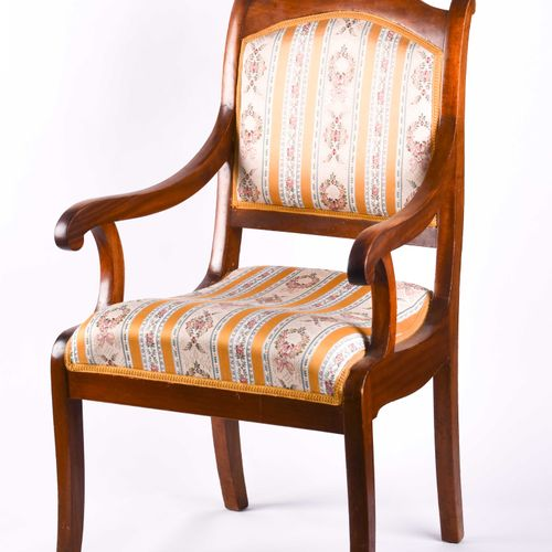 Biedermeier Armlehnstuhl um 1820 | Biedermeier armchair around 1820 birch, with …