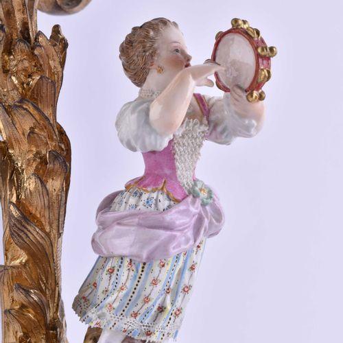 Leuchterpaar Meissen 19. Jhd. | Pair of candlesticks Meissen 19th century Porcel…