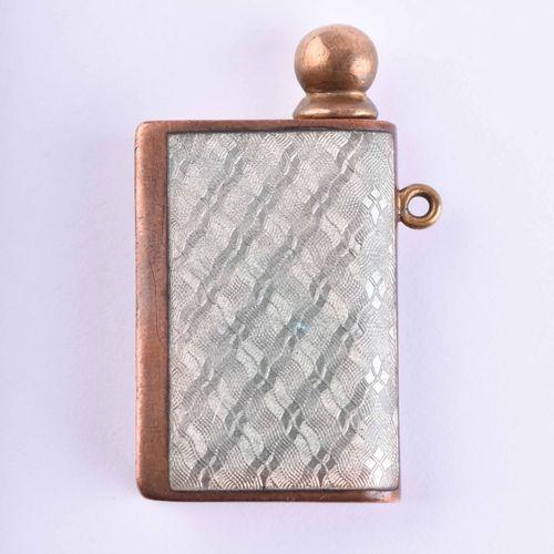 Streichholzbehälter um 1850/60 | Matchbox around 1850/60 Enamel decoration, dog …