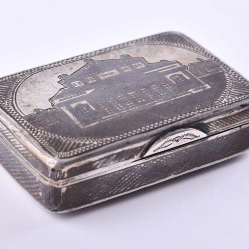 Tabatiere Russland | Tobacco tin Russia Silver 84 Zolotnik decorated with Niello…