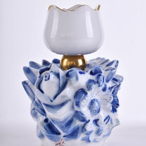 Sehr seltener moderner Leuchter Meissen | Very rare modern candlestick Meissen d…