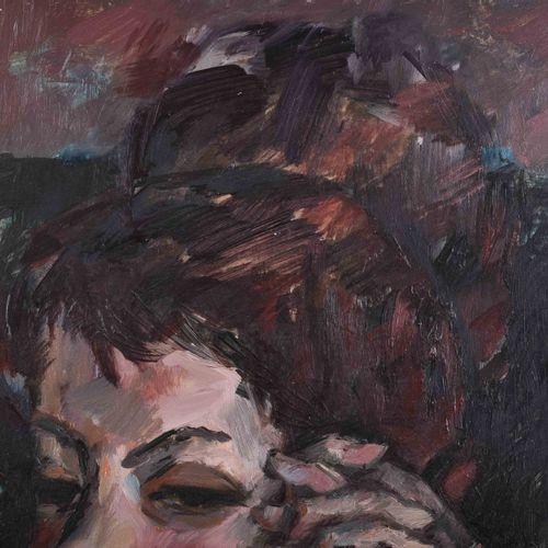 Rolf SCHUBERT (1932 2013) 冥想画 油/纸板,61厘米x50.5厘米,背面有签名、题词和日期22.4.64