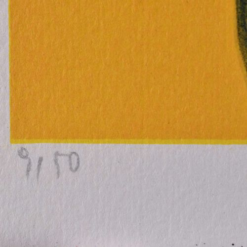 Hans TICHA (1940) BallspielGrafik 彩色石版画,手工纸,43.5厘米 x 33厘米,在85号下方的中心位置签名并注明日期,编号9…