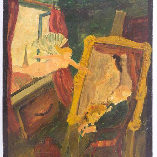Carl HINRICHS (1903 1990) die Inspiration kommt durchs Fenster zum Künstler油画,23…