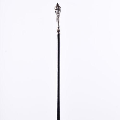 Gehstock um 1900 Poignée en argent poinçonné, L : 88 cm