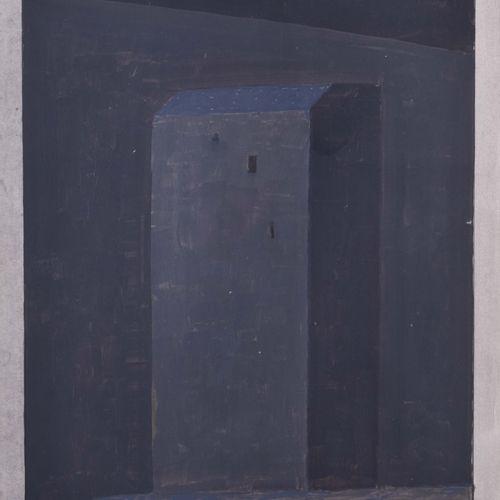 Hermann BACHMANN (1922 1995) 屋檐丙烯酸/水彩混合纸,32.5厘米x25厘米,右下角有签名和日期59/77,由于年代久远,状况良好,…